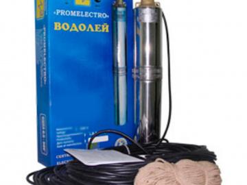Скважинный насос Водолей БЦПЭ 0,5-63м (напор до 63м, произв. 1,8куб.м/час)