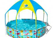Детский каркасный круглый бассейн Bestway 56432 (244х51) с навесом