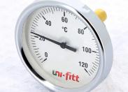 """Термометр погружной аксиальный 1/2"""" UNI-FITT 80'C, диаметр 40 мм"""