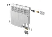 Радиатор  нижним подключением 6 секций ROYAL THERMO BILINER 500 V BIANCO TRAFFICO (белый)