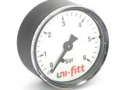 """Манометр аксиальный 1/4"""" UNI-FITT 10 бар 50 мм"""