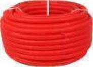 STOUT SPG-0002 Труба гофрированная ПНД, цвет красный, наружным диаметром 20 мм для труб диаметром 16 мм бухта 50м.