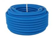 STOUT SPG-0001 Труба гофрированная ПНД, цвет синий, наружным диаметром 20 мм для труб диаметром 16 мм бухта 50м.