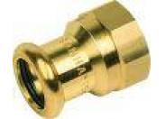 Sanha 8270G пресс-фитинг, бронза, муфта переходная ВПр-ВР 28x1 для медных труб прессовой