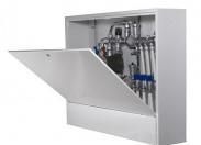 Шкаф коллекторный металлический накладной глубокий UNI-FITT 1000х650х180
