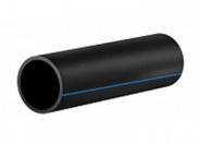 Труба 90х8.2 (отрезки 12 м) ПЭ100 SDR11 (1,6МПа), цвет чёрный с голубой полосой, ГОСТ18599-2001 АльфаПайпАртикул: ПЭ1Ш090_ГАП цена 1м.
