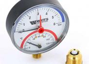 """Watts  FR 828(TMRA) 6x1/2"""" Термоманометр радиальный, 0-6 бар"""