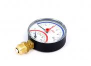 """Термоманометр радиальный 1/2"""" UNI-FITT 10 бар 80 мм"""