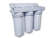 Установка для подготовки питьевой воды Waterstry 3-х ступенчатая NW-PR203 ((0,6-8,8 бар, картриджи  PP 10 мкм, GAC, CTO, ключ, монтажный комплект, водоразборный кран)