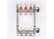 Колл.группа  3 вых с расходомерами и термостатическими вентилями, нерж. сталь
