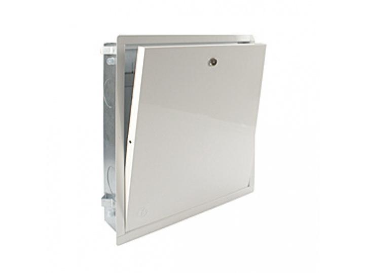 Шкаф коллекторный Giacomini встраиваемый стальной, переменной глубины 85-130 мм