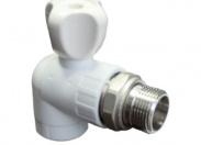 PPR Кран Н ProAqua угловой 25х3/4' с разъемным соединением для радиаторов