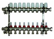 Коллектор распределительный Millennium 1 на 9 контуров, с расходомерами