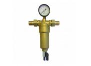 """ViEiR Фильтр промывной с манометром 3/4"""" для горячей воды"""