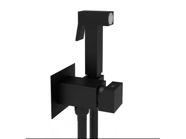 Гигиенический душ Paffoni Tweet Square ZDUP112NO со смесителем, С ВНУТРЕННЕЙ ЧАСТЬЮ