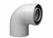 Коаксиальный отвод полипропиленовый 87°, диам.110/160мм, HT BAXI